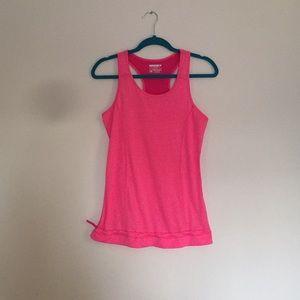Pink razor back workout tank. Layer 8 brand
